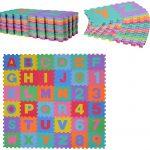 HOMCOM Alfombra puzzle para niños