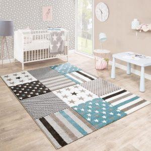 Paco Home alfombra de habitación infantil-estrellas