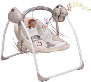 Vastfafa Mecedora eléctrica para bebés