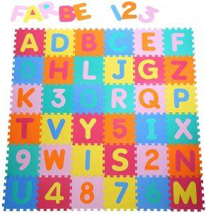 Yorbay Alfombra puzzle para niños